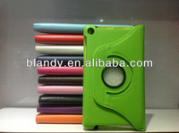 10pcs/lot&Free shipping 360 degree rotating Lychee Leather stand Case For Google Nexus 7 ii