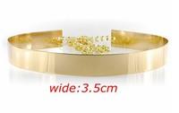 Designer Belts  Metal Keeper Metallic Bling Gold Mirror 3.5cm Wide Obi Belt Corset Free Shipping JP082121
