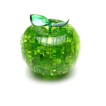 3D Apple Decorative Crystal Jigsaw Puzzle + Light(China (Mainland))