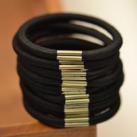 200PCS/Lot, Wholesale Basic brief metal buckle rubber band headband diy hair accessory handmade hair rope Free shipping