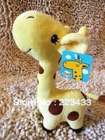 Cute Lovely Long Neck 25cm 4pcs=1lot Giraffe Stuffed Plush Toy Doll  for Kids six colors  big plush animal 1pc free shipping 1pc