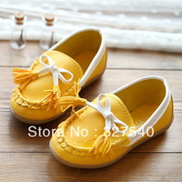 2013 new arrival autumn children's Moccasins tassel girls princess shoes boys single leather casual shoes Free shipping