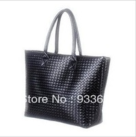 Free Shipping! Hot Selling~2013 Women's Brief Fashion PU Leather Famous Brand Handbags.Big Capacity &Black Plaid Shoulder Bags