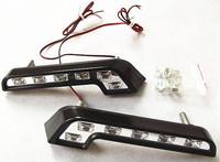 2pcs White 6 LED Car Aux DRL Daytime Running Light 2728