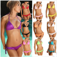 Free Shipping 2014 S M  L XL  Europe and America Fashion Style Free Size Code 11 Color candy color BIKINI swimsuit Factory Price
