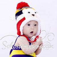 Lovely Bear Baby Winter Fleece Hats Infant Toddler Animal Earflap Beanies Boy&Girl WInter Hat Caps 5pcs Free Shipping MZD-042