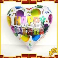 Free Shipping 18 heart aluminum balloon love aluminum foil balloon birthday decoration