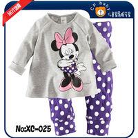 Baby girls boys pajamas christmas cartoon mickey costumes suit  children sleepwear toddler infant  outerwear child clothing set