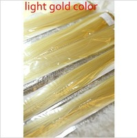 2013 hot sale !9# 20inch 13g Hair piece light gold color hair extention synthetic hair with free shipping (min order 10$)