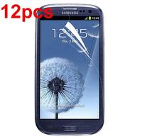 2014 12pcs/lot Clear Screen Protector Guard + cloth for Samsung Galaxy S III S3 i9300/T999/i535/L710