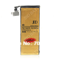 Golden Battery For iphone 4s High Capacity Bussiness Battery 2200mAh 2pcs