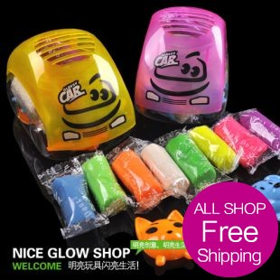 Free Shipping Car niceglow 3d dough child modeling clay toy eco-friendly tk450(China (Mainland))