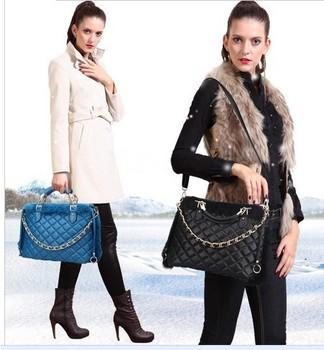 free shipping fashion leisure bag new European luxury ladies chain handbag rabbit fur totes shoulder bag women's party bag