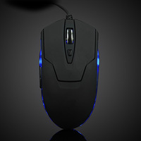 Game Mouse 1600DPI Adjustable 6 Buttons USB Wired Optical Gaming Mouse for PC Game free shipping