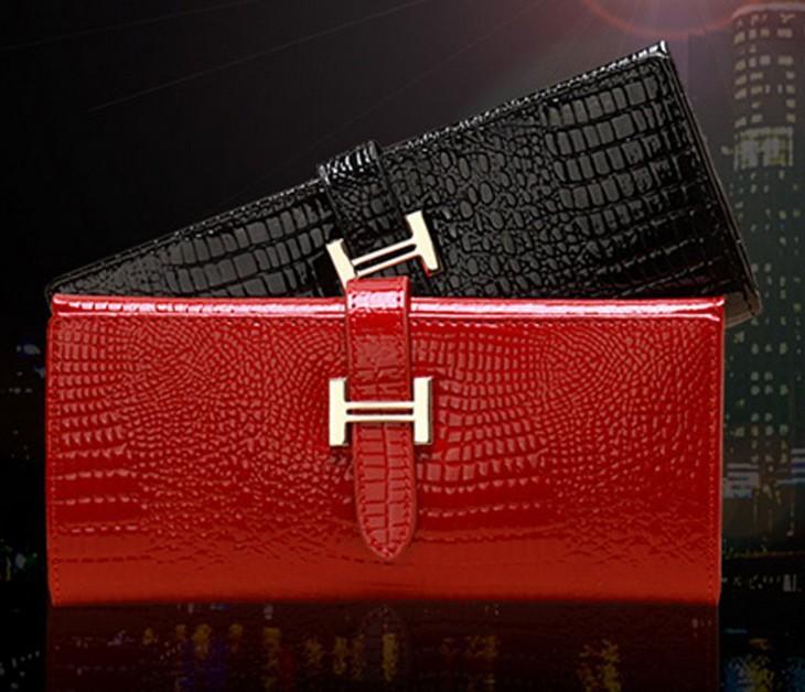 Classic women's wallet genuine leather long wallet cowhide women's design day clutch