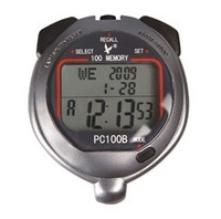 LEAP stopwatch PC100B  line digit 100 memories ability  Digital Chronograph Sports