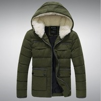 2013 Winter men's fur slim  cotton-padded down coat  with  fashio&casual jacket