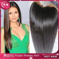 Unprocessed virgin hair indian hair 2 pcs lot  natural color human hair weave