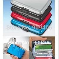 (600pcs/lot) Aluminium Credit card wallet cases (8 colors) card holder, bank card case aluminum wallet, opp bag package