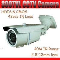 800tvl CMOS IR outdoor camera 2.8-12mm varifocal Lens Waterproof CCTV Camera 42pcs IR Leds IR Cut HDIS 40M IR Distance