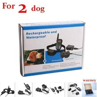 25pcs/lot*(2dog) 300M 100LV Shock Rechargeable and Waterproof Dog Training Collar with LCD Display  for 2 dog