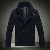 Мужская ветровка big size M-3XL men's casual jackets 2013 Autumn new fashion mens leather spliced stand collar slim fit jacket coat