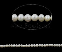 Free shipping!!!Round Cultured Freshwater Pearl Beads,Inspirational, Potato, natural, white, A Grade, 5-6mm, Hole:Approx 0.8mm