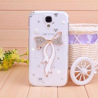 luxury rhinestone bowknot mobile phone case protective case cover For samsung galaxy s4 i9500 case,Free shipping