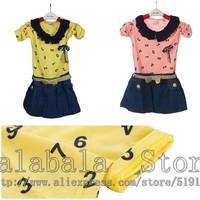 Retail Baby Girl Children Dress Long Sleeve Dress Children Autumn Clothes