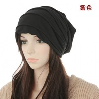 Special Korean version of the influx of people male spring and autumn scarf hat lady hat head cap sleeve solid color double laye