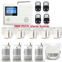 C111 5800 Wireless Home PSTN Telephone Auto-dial Security Burglar Alarm System Kit Smoke Fire Sensor 12V Output