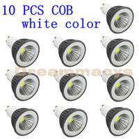 10 Pcs GU10 3W White COB LED Spot Light PAR16 Down Lamp Bulb 110V-240V  wholesale