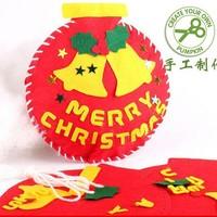 10PCS/LOT.Handmade christmas jingle bells crafts kits,Christmas crafts.Xmas toys,Christmas gifts.Christmas tree oranment.