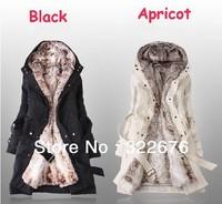 2013 Hot Sale  Women's Free Shipping  Plus Size winter warm long fur coat jacket   Size S/M/L/XL/XXL/XXXL/XXXXL