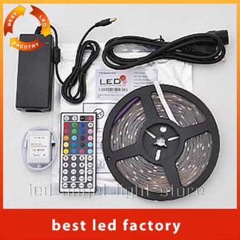 Best Price Led Strip Light Stripe RGB SMD 5050 300Leds 5m Waterproof + 44Keys IR Remote Controller