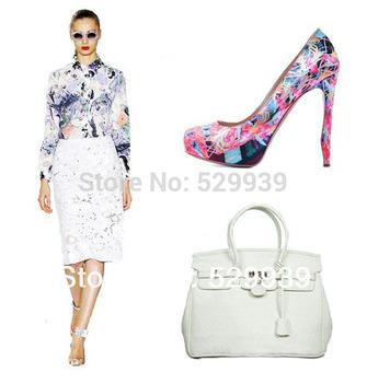 2014 women's handbag fashion women's ostrich pu leather bolsa feminina de couro shoulder bags
