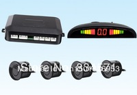 6 colors!Car Parking Sensor system 12V Car LED Display Parking Reverse Backup Radar Kit Free Shipping Wholesale