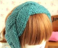 2013 new wholesale fashion wool knitting braid elastic headbands hair accessories winter headband