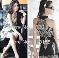 2013 Fashions women's / Latest Japanese and Korean national wind Bohemia Retro Totem Sleeveless Dress 152