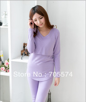 New Arrival Free Shipping Autumn Winter Top Quality Pregnant Nursing Clothes Sleepwear Maternity Lounge Nursing Pajamas