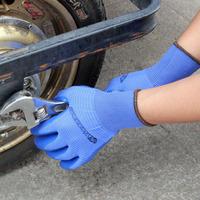 (12pairs /lot) Free shipping factory wholesale kevlar gloves work gloves slip-resistant nylon knitted gloves nitrile gloves blue