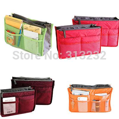 12 Color Cheap Fashion Large Dual Organizer Mp3 Phone Cosmetic Book Storage Nylon Bag In Bags Handbag Purse Free Shipping ByCPAM(China (Mainland))
