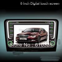 Free shipping 8 Inch Car Radio Audio DVD Player GPS TV iPod Bluetooth Games For SKODA RAPID 2013+ Retail/PC