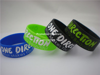 "One Direction What Makes You Beautiful Wristband, 1"" Wide Band, Silicon Bracelet, 4Colours, 50pcs/Lot, Free Shipping"
