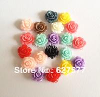 50pcs Mix Colors 10mm 3D Flowers Roses Nail Art Beads Art Tips Decoration