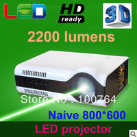 New arrival 2kg  mini led projector hd, 2200 lumens,native 800*600 high resolution, mini led projector hdmi, all in one