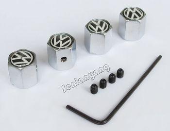 Tire Wheel Valve Stem Caps VW Volkswagen GOLF JETTA MK6 MK7 Touran Tiguan Passat