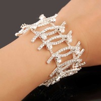 New Arrival!!2013 Christmal Gift Fashion CZ Diamond Bracelet,Charms Full Drill Women Bracelet,Jewelry Bracelet YHDSH006