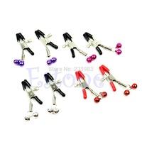 M65 1 pair Alternative sex toys bell nipple clamps shaking stimulate milk clip overcast female breast clip massage