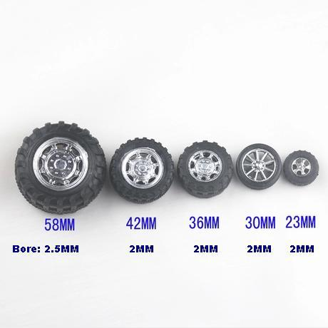 Diy toy car wheel plastic material, tyre accessories model bore: 2mm, 2.5mm, 3mm...(China (Mainland))